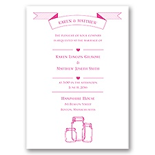Vintage Jars - Invitation