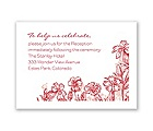 Rustic Wildflowers - Reception Card