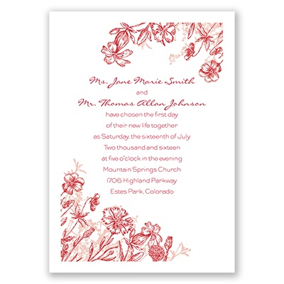 Rustic Wildflowers - Invitation