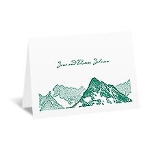 Watercolor Mountain - Note Card and Envelope
