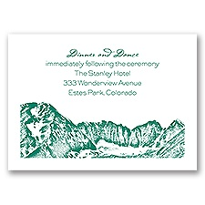 Watercolor Mountain - Reception Card