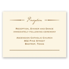 Initial Inspiration - Ecru - Reception Card