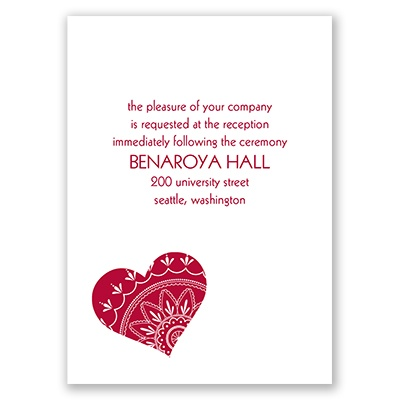 From the Heart - Reception Card