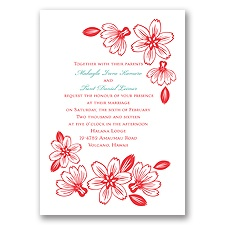 Modern Cherry Blossoms - Invitation
