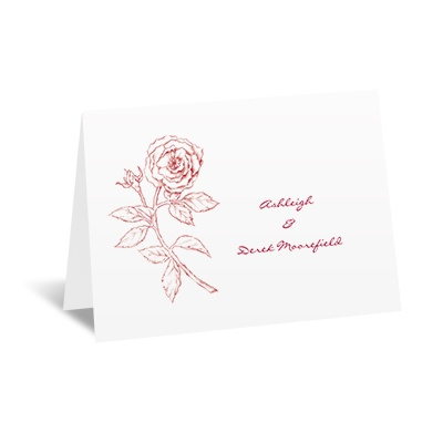 Classic Rose - Note Card and Envelope