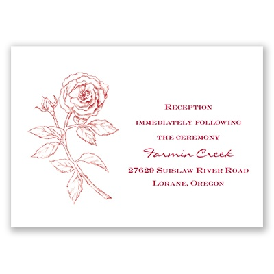 Classic Rose - Reception Card