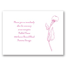 Classic Calla Lily - Reception Card