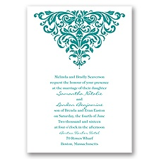 Dramatic Damask - Invitation