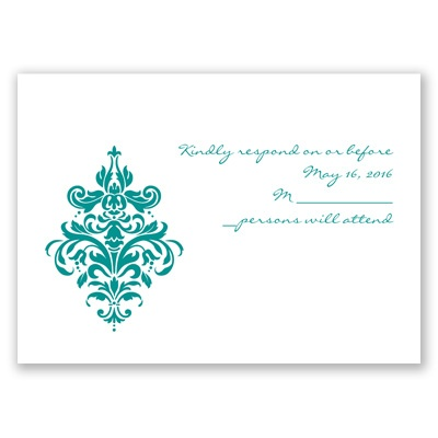 Dramatic Damask - Response Card and Envelope