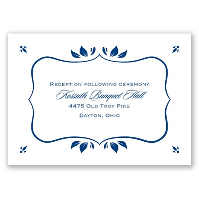 Leafy Accents - Reception Card