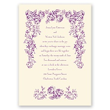 Vintage Rose - Ecru - Invitation