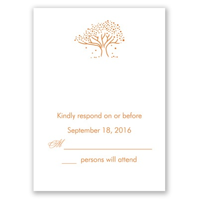 Whimsical Tree - Response Card and Envelope