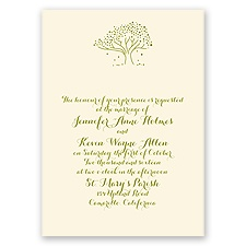 Whimsical Tree - Ecru - Invitation