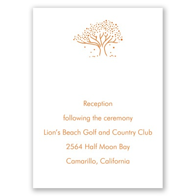 Whimsical Tree - Reception Card