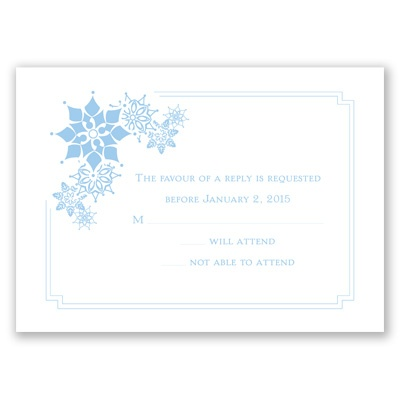 Snowflake Fantasy - Response Card and Envelope