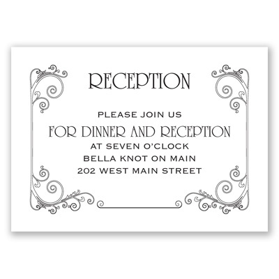 Sweet Sentiment - Reception Card