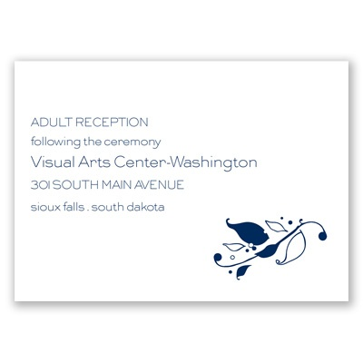 Love Bird Silhouette - Reception Card