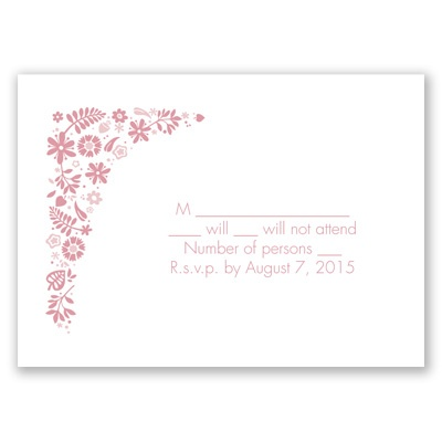 Floral Ampersand - Response Card and Envelope