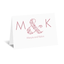 Floral Ampersand - Note Card and Envelope