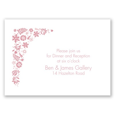 Floral Ampersand - Reception Card