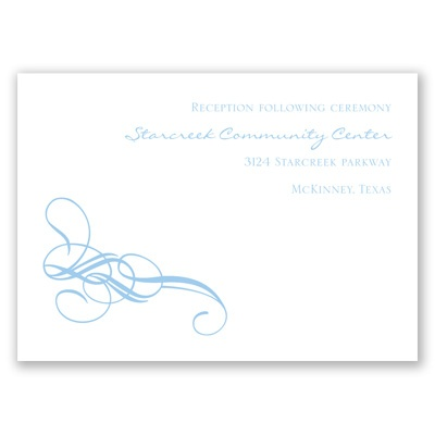 Fancy Flourishes - Reception Card