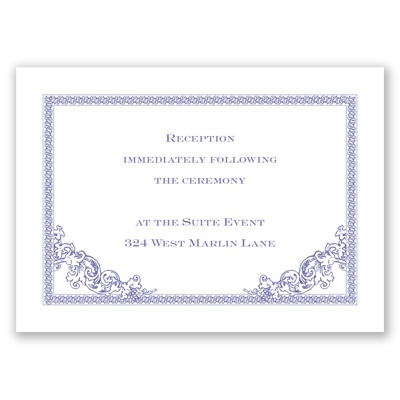 Vintage Victorian - Reception Card