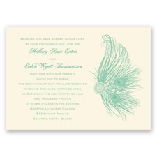 Fancy Peacock - Ecru - Invitation