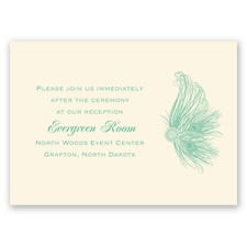 Fancy Peacock - Ecru - Reception Card