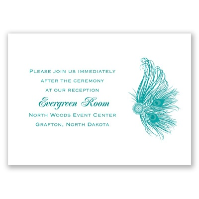 Fancy Peacock - Reception Card