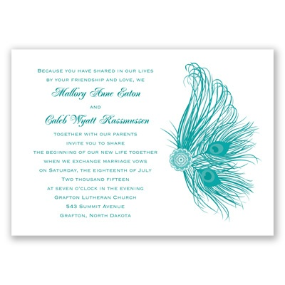 Fancy Peacock - Invitation