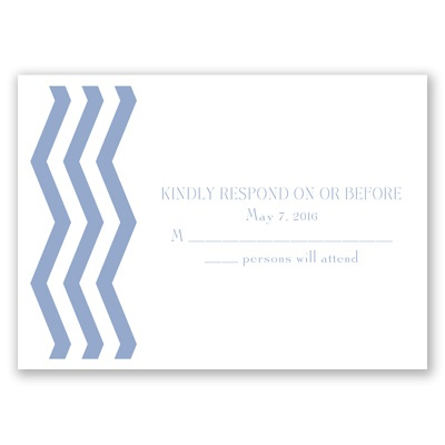 Modern Chevron - Response Card and Envelope