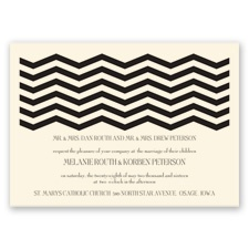 Modern Chevron - Ecru - Invitation