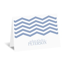 Modern Chevron - Note Card and Envelope