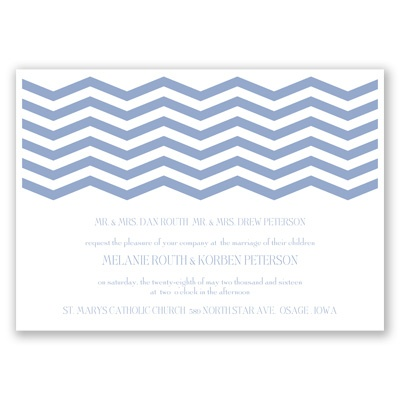 Modern Chevron - Invitation