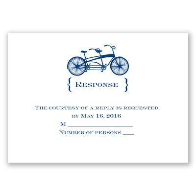 Bike for Two - Response Card and Envelope
