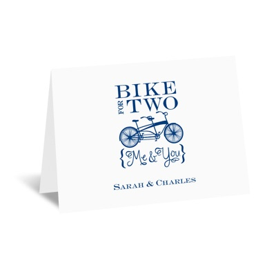 Bike for Two - Note Card and Envelope