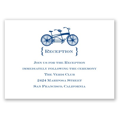 Bike for Two - Reception Card