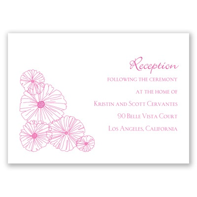 Modern Flowers - Reception Card