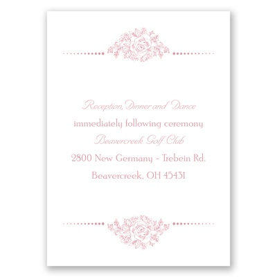 Fairy Tale Love - Reception Card