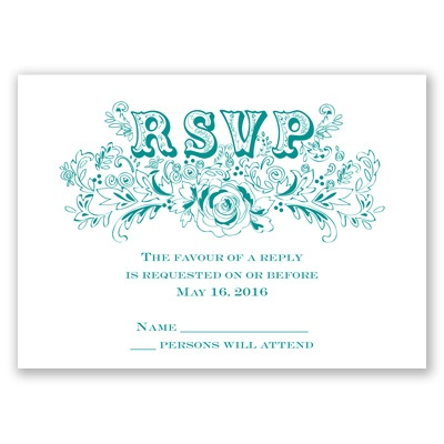 Vintage Vows - Response Card and Envelope