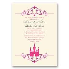 Fairy Tale Castle - Ecru - Invitation