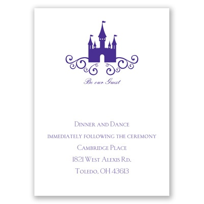 Fairy Tale Castle - Reception Card