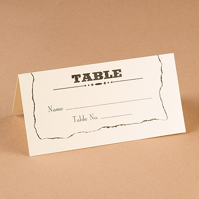 Wanted! Style Place Card