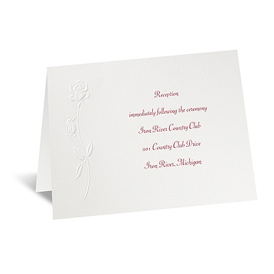 True Love - Reception Card