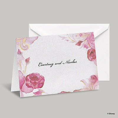 Briar Rose Note Card and Envelope - Aurora