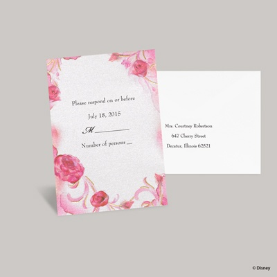 Briar Rose Response Card and Envelope - Aurora