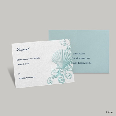 Beneath the Waves Response Card and Envelope - Ariel