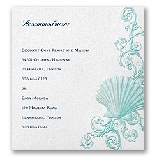 Beneath the Waves Accommodation Card - Ariel