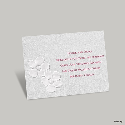 Apple Blossoms Reception Card - Snow White