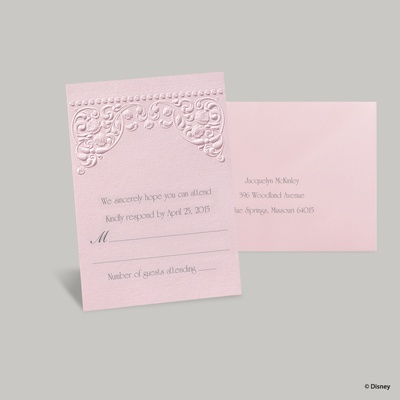 Princess Dreams Response Card and Envelope - Aurora